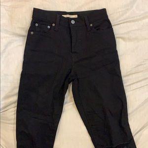 Levi's Wedgie Skinny Distressed Raw Hem Jeans